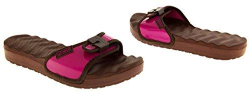 Womens correa ajustable Mule Sandals Púrpura