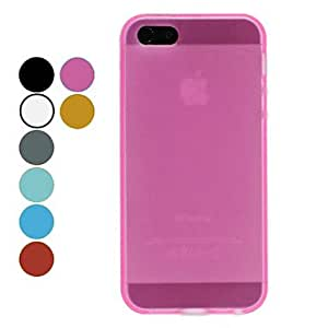 Protective Soft TPU Case Soft Case for iPhone 5/5S (Assorted Colors) --- COLOR:Orange