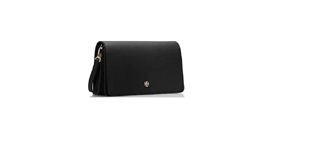 aa0472ab833 Tory Burch Emerson Combo Crossbody Handbag Black Saffiano Leather   Handbags  Amazon.com