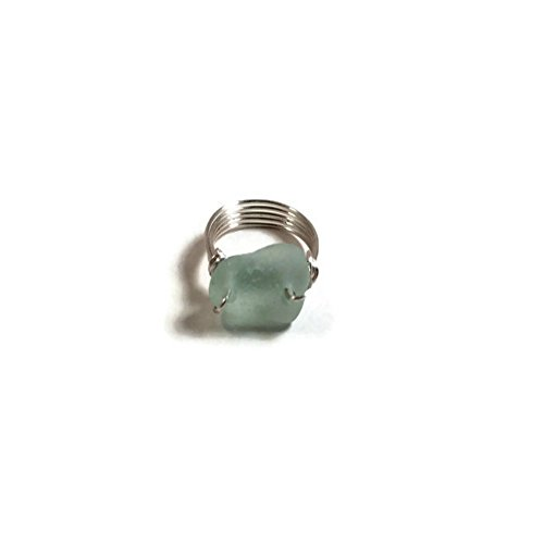 Sea Glass Ring Beach Glass Jewelry Eco Friendly Ring Beach Wedding Christmas Gift