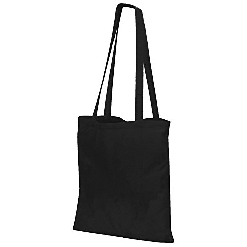 Jassz Bags Budget Promo Long Handle Shopping Bag/Tote (One Size) (Black)
