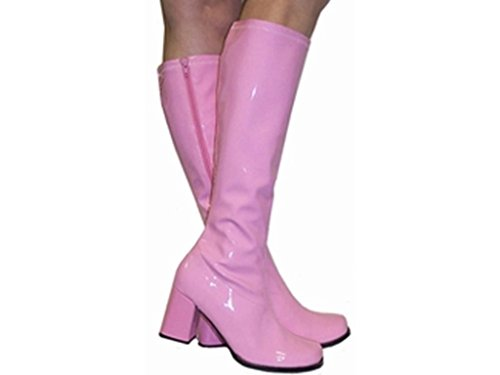 Dress White Pink Glamorous Retro Go Go Boots Womens Ladies amp; Fancy Party Fashion New 1960s 1970s 4XCXxw6q