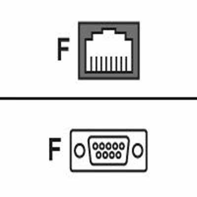 (Cyclades - Serial Rs-232 Adapter - Rj-45 (F) - Db-9 (F))
