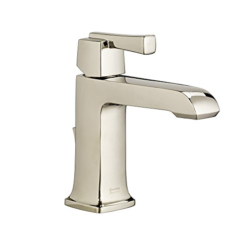 (American Standard 7353101.013 Townsend Handle Single-Hole Bathroom Faucet with Speed Connect Drain in Polished Nickel)