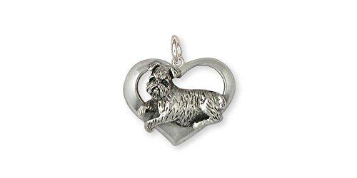 Brussels Griffon Jewelry Sterling Silver Brussels Griffon Charm Handmade Dog Jewelry GR37-C