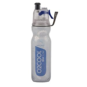 O2COOL New 20 OZ. Mist 'N SIP Double wall insulated ArticSqueeze Bottle, Purple