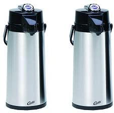 Wilbur Curtis Thermal Dispenser Air Pot 1 Gal S.S Body S.S Liner Lever Pump