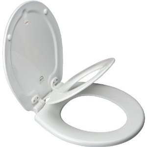 Round Closed Front Plastic Toilet Seat, Next Step, White