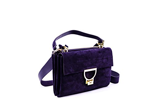 Coccinelle Arlettis Suede crossbody bag chamois leather Aubergine