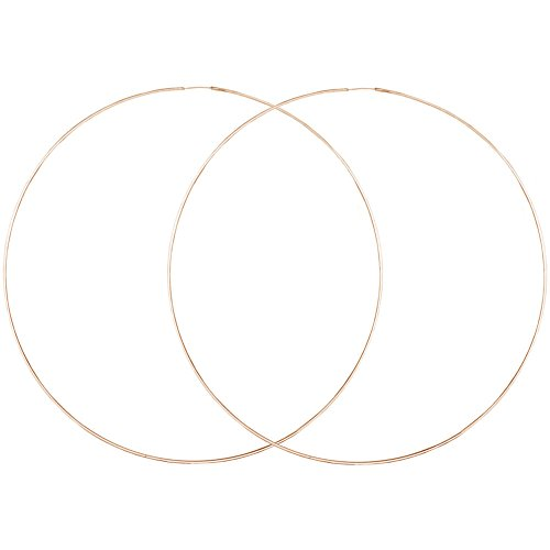 Very Thin Endless Hoops, 80mm 3 1/8 Rose Gold Tone in Rose Gold Tone