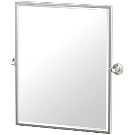 Gatco 4859FSM Max Framed Small Rectangle Mirror Satin Nickel 25 H