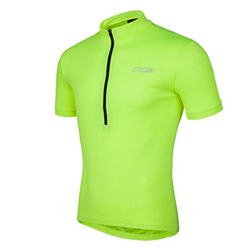 (Bpbtti Men's SS Bike Biking Shirt Solid Color Cycling Jersey (Chest 38-40
