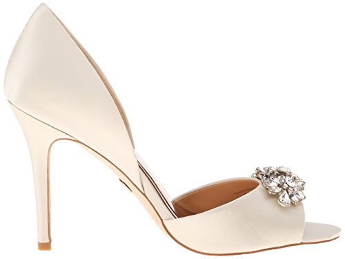 Badgley Mischka Donna Giana Dorsay Pump In Raso Avorio