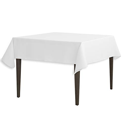 LinenTablecloth 54-Inch Square Polyester Tablecloth White for $<!--$4.49-->