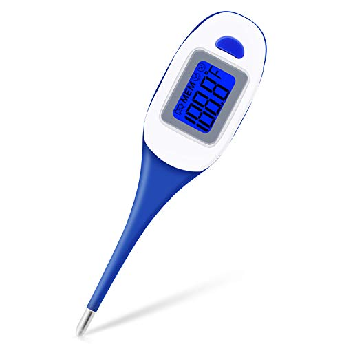 Thermometer, Digital Thermometer Medical Waterproof Baby Thermometer Detecting Oral Rectal Underarm Temperature Rectal Thermometer for Babies Kids Adults