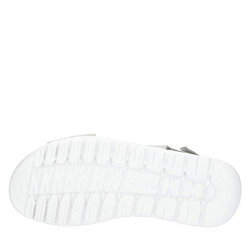 Gabor 84731-39 Sandalo Delle Signore Da Nubuck Tre Chiusure In Velcro Fodera In Pelle Grigia