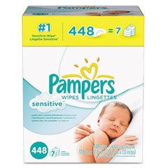 Pampers Sensitive Baby Wipes, 448/Carton