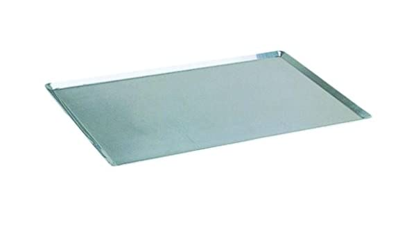 Cuisineonly - Placa Acero inoxidable 60 x 40 cm bordes finos ...