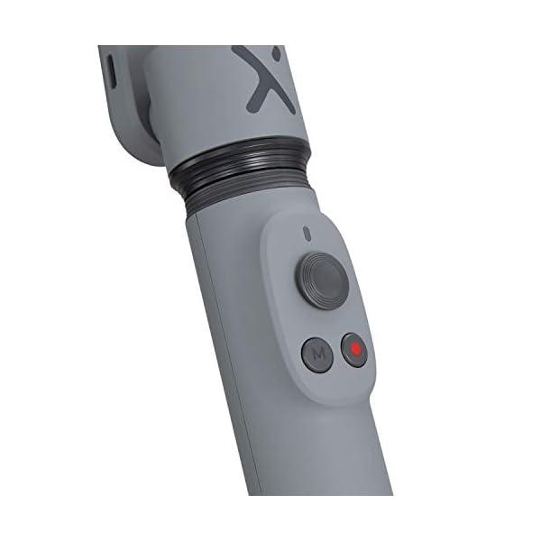 ZHIYUN Smooth-X Ufficiale Smartphone Pieghevole Stabilizzatore del Giunto Cardanico Stick per Selfie Vlog Youtuber (Grigio) 3 spesavip