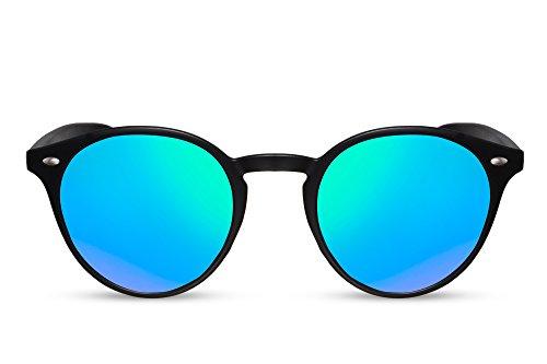 Hommes Brun Sunglasses Ca Connaisseur Femmes Miroitant Rétro Rondes Noir 016 Cheapass Noir Lunettes zOwq4zU