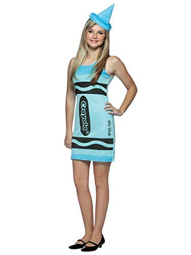 Rasta Imposta Crayola Tank Dress Teen Costume, Sky