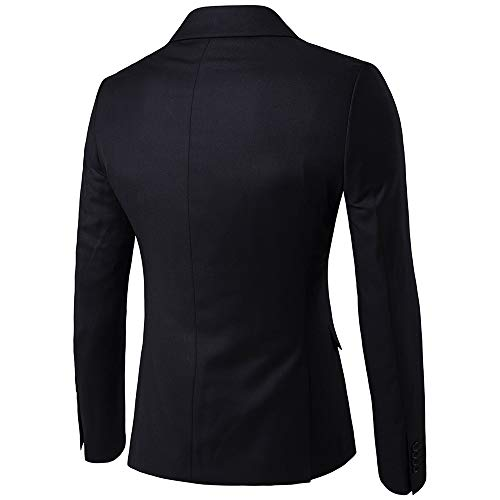 Veste Decha Soirée Jacket Formel Un D'affaires Noir Blazer Casual Pantalon Gilet Pièces Costume Business Homme Et Manteau 3 Bouton rAr18