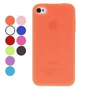 CECT STOCK Color sólido caso suave de TPU para el iPhone 4/4S (colores surtidos) , Gris
