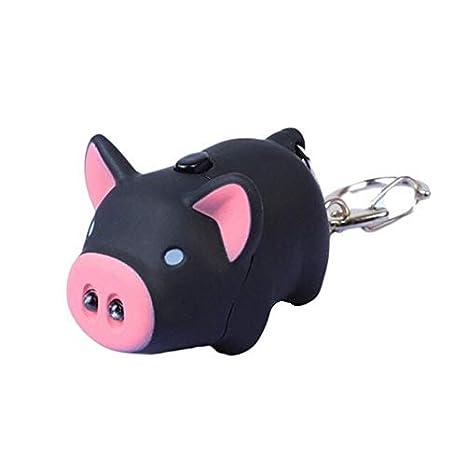 CamKpell Cute Cartoon Piglet con Linterna LED y Sonido ...