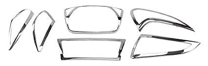 Autofy Headlight Tail Light Indicator Plate for Honda Activa (Chrome)