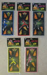 Mighty Morphin Power Rangers 16 Piece Decal Pack X 5 (Each Original Ranger)