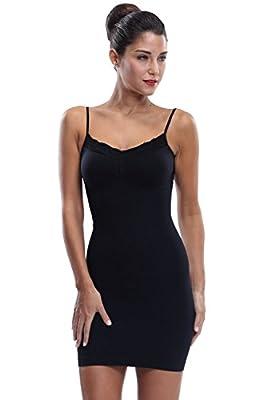 Franato Women's Shapewear Stretch Control Slip Dress Full Shaping Camis Slip