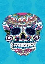Regalitostv Day of The Dead* Toalla Playa Grande 95 X 175 CM Tacto Terciopelo 100% ALGODÓN (360g) (Calavera Azul Claro 222B)