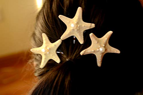 Hair pins with starfish - pack of 3 Starfish bobby Pins,Hair Accessories,Beach Photo Prop,Beach Wedding,Mermaid,Nautical Bridal Accessories,Hair Clip,starfish barrette,Flowergirl hair -