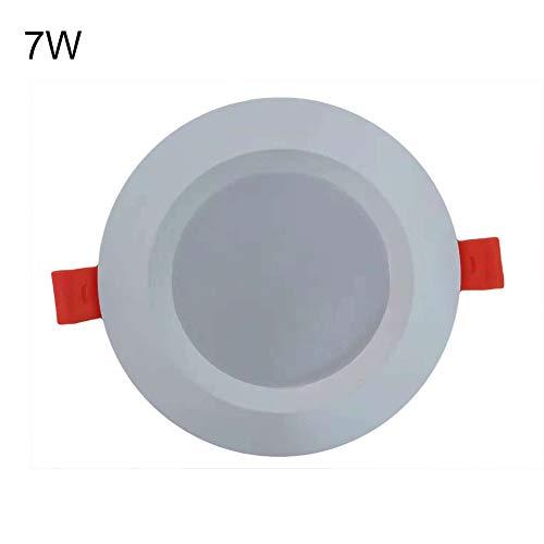 GrmeisLemc 5/7W Motion Sensor LED Night Light Bulb Radar Sensing Corridor Stairway Lamp White 7W