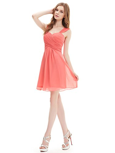 Ruffles Chiffon Knee length Bridesmaid Dresses