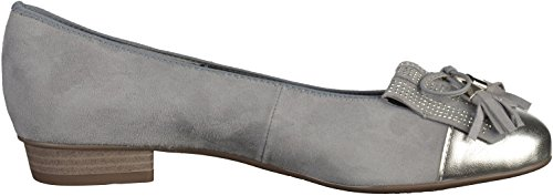 Ara Womens Bari 12-33727-05 Nubuck Leather Shoes Grau(Grau/Silber)