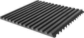 """Vibration Isolation Ribbed Neoprene Pads, 18"""" X 18"""" X 3/8"""", Pack of 6 Pads"""