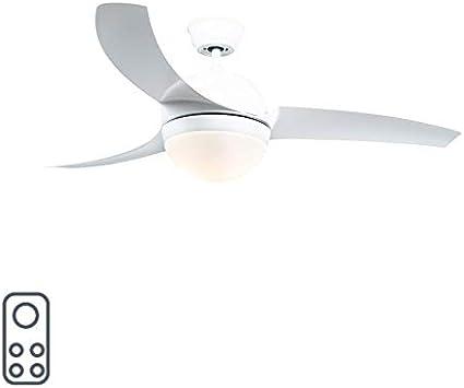 Ventilador blanco mando a distancia BORA 52 | Lamparayluz