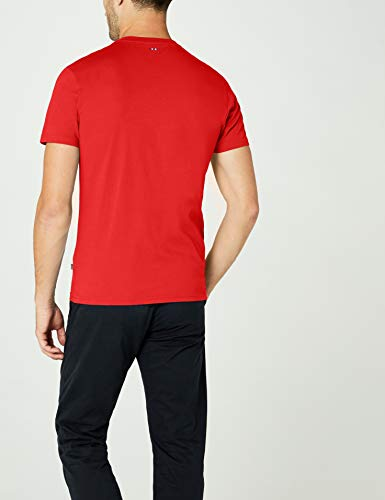 Rouge Syros bright T Red Napapijri Homme T R89 shirt YqxXd