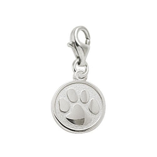 Rembrandt Charms Tiger Paw Charm with Lobster Clasp, Sterling ()