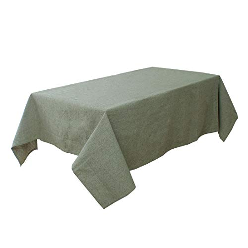 """uxcell Water/Oil Stain Resistant Cotton Blends Rectangular Tablecloth 55"""" x 63"""" for Wedding Restaurant Parties Decoration Green from uxcell"""
