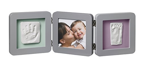 Baby-Art-My-Baby-Touch-Print-Frame-Marco-doble-foto-con-huella