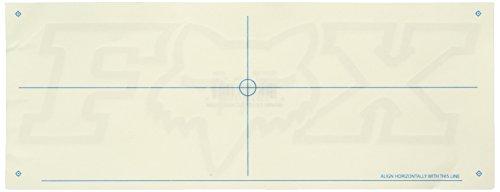 Fox Men's F-Head-x Thermal Die Cut Sticker 10 Inch, White, One Size