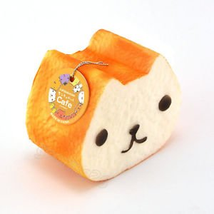 12CM Jumbo Squishy Kapibarasan Toast Slow Rising Bread With Tag Cellphone (High Quality Koi Japan)
