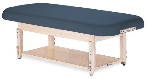 "EARTHLITE Sedona Stationary Massage Table Flat/Shelf - Solid Hard Maple, 2 Bases, 3 Tops, 6 Colors, (28-32"" wide), Height Adjustable (24-33"")"