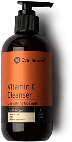 Natural Vitamin C Face Wash - Cleanse, Brighten, Hydrate, Nourish Skin - Anti Aging Skin Cleanser - 8 Ounces - Eve Hansen