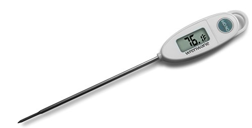 Wrenwane Digital Meat Thermometer, Instant Read, White