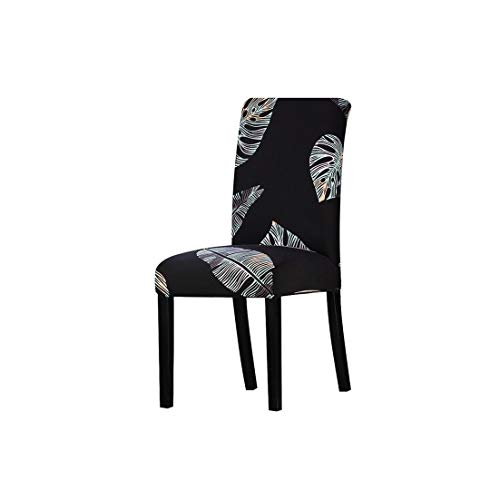 All Black Color Chair Cover Washable Removable Big Elastic Seat Covers Stretch Slipcovers Used for Banquet Hotel Home,K221,Size ()
