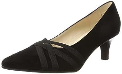 Haissel, Zapatos de Tacón Mujer, Negro (Schwarz Suede), 41 Peter Kaiser
