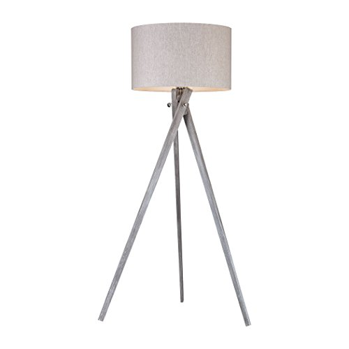 Manhattan Collection Whistler 1 Light Floor Lamp In Black Ash - Hutch Room Ash Dining